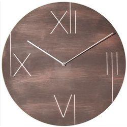 Nextime :: zegar ścienny galileo ø 43 cm brązowy z ramką podświetlającą