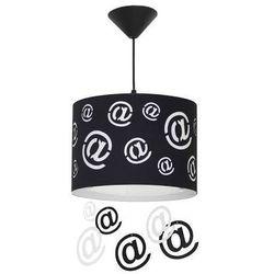 Mail lampa wisząca 1-punktowa biała 703G/D/ czarna 703G/1/D, 703G/D