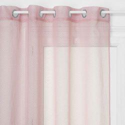 Gotowa zasłona na przelotkach ze wzorem, różowa zasłona zaciemniająca do różnych wnętrz (3560238328101)