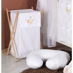 MAMO-TATO Kosz na bieliznę Miś w hamaku w bieli