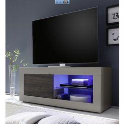 Nowoczesna włoska szafka telewizyjna AMBROZJA 140/43/56 cm