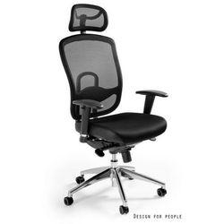 Fotel Unique Vip ergonomiczny czarny W-80-4