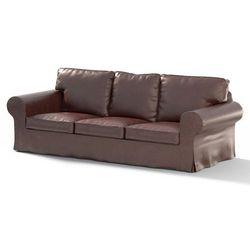 pokrowiec na sofę ektorp 3-osobową, nierozkładaną, brąz (eko-skóra), sofa ektorp 3-osobowa, eco-leather marki Dekoria