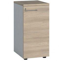 Szafa biurowa z drzwiami, 740 x 400 x 420 mm, biały/dąb naturalny