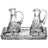 Komplet kryształowy taca i 2 karafki - 6540 marki Crystal julia