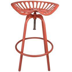 stołek ogrodowy w stylu siedziska traktora czerwony marki Esschert design