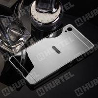 Aluminiowe etui lusterko metal mirror bumper sony xperia z2 d6502 srebrne - srebrny, marki Hurtel