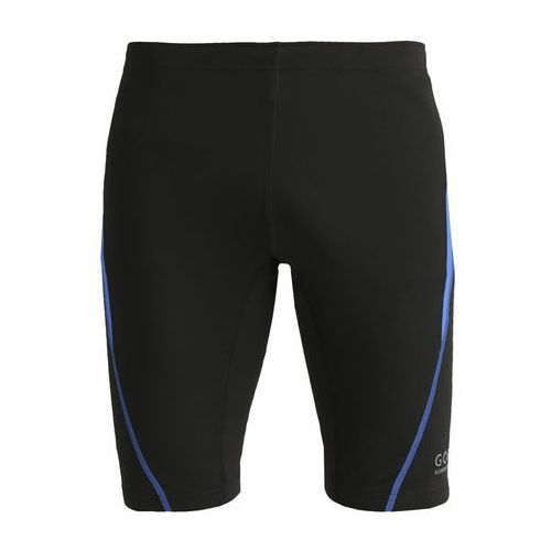 Gore Running Wear ESSENTIAL Legginsy black/brilliant blue (spodnie męskie)