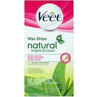woskowe plastry wax strips natural inspirations - 12 szt od producenta Veet