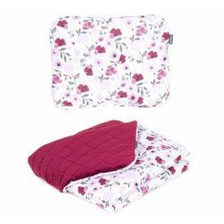 Komplet kocyk dla dzieci velvet pikowany 75x100 + poduszka - bratki marki Mamo-tato