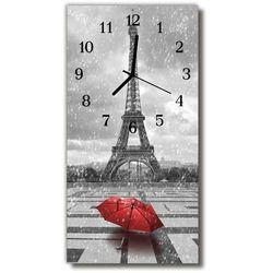 Zegar Szklany Pionowy Miast Wieża eiffla Czarno-biały