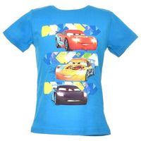 T-shirt z wizerunkiem bohaterów bajki Cars Auta - Niebieski ||Kolorowy