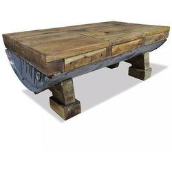 Stolik kawowy z litego drewna z odzysku, 90x50x35 cm marki Vidaxl