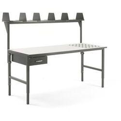 Aj produkty Stół roboczy cargo, z podajnikiem kulowym, 2000x750 mm, szuflada, nadstawka