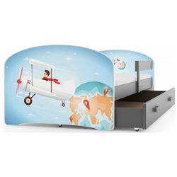 Łóżko pojedyncze dla chłopca samolot 2 rozmiary - Delmo, 11416012111801200840000001