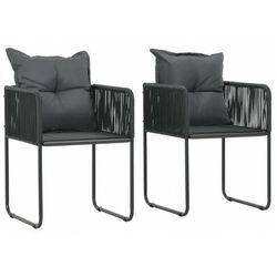 Elior Zestaw polirattanowych krzeseł ogrodowych - morris