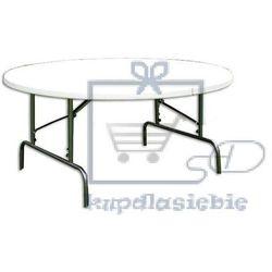 Garthen Składany stół ogrodowy kempingowy okrągły (4025327345036)