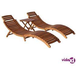 vidaXL 3-częściowy zostaw wypoczynkowy do ogrodu, akacja, brązowy (8719883563398)