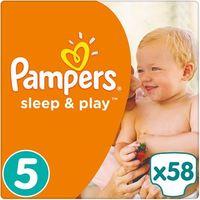 PAMPERS Sleep&Play 5 JUNIOR 58 szt. (11-18 kg) JUMBO PACK – pieluszki jednorazowe z kategorii pieluchy jedno
