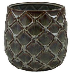 Osłonka doniczki wewnętrzna 19 cm brązowa