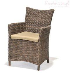 Fotel z poduszką Kolanta PDS brązowy - produkt z kategorii- Krzesła ogrodowe