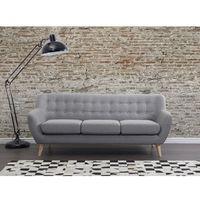 Beliani Sofa jasnoszara - kanapa - sofa tapicerowana - motala (7081453227353)