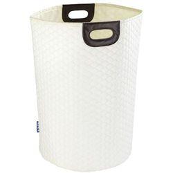 Nowoczesny, praktyczny, poliestrowy kosz/torba na pranie, o pojemności 75 l, kolor beżowy, 2 uchwyty do przenoszenia, marka WENKO (4008838234396)