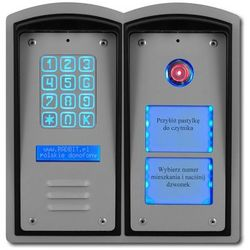 Cyfrowy domofon wielorodzinny z szyfratorem, czytnikiem i listą /panel zewnętrzny/ marki Radbit
