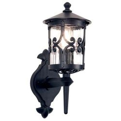 Zewnętrzna lampa ścienna hereford bl10  kinkiet metalowa oprawa ogrodowa ip23 outdoor czarny, marki Elstead