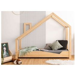 Drewniane łóżko dziecięce domek Lumo 2X - 28 rozmiarów