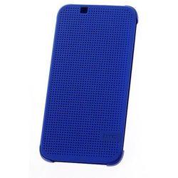 Etui Dot View HTC HC M140 LITE Niebieskie do HTC Desire 620 Dual SIM - Niebieski