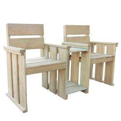 ogrodowe siedzenie dla 2 os., 150x55x89 cm, sosna impregnowana marki Vidaxl