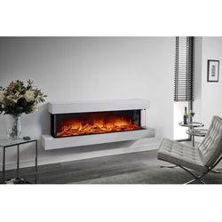 Kominek do montażu ściennego Flamerite Fires Iona 1500. Efekt płomienia Nitra Flame LED - 20 kolorów ognia - 190 cm