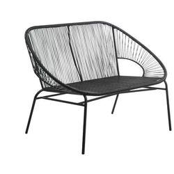 Ławka ogrodowa alios z włókien technorattanu — czarna marki Vente-unique