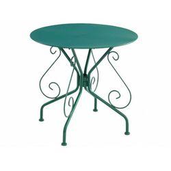 Stół ogrodowy GUERMANTES z kutego żelaza – kolor zielony