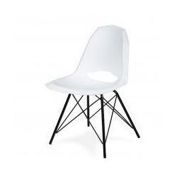King home Krzesło gular dsm białe - polipropylen, podstawa czarna metalowa