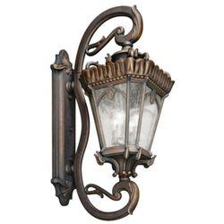 Kichler Zewnętrzna lampa ścienna kl/tournai1g/xl elstead metalowa oprawa elewacyjna ip44 outdoor klasyczna l