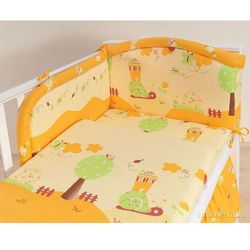 MAMO-TATO pościel 3-el Ślimaki pomarańczowe do łóżeczka 70x140cm