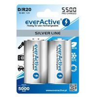 2x everActive R20/D Ni-MH 5500 mAh ready to use