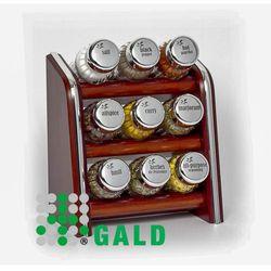 półka z przyprawami 9-el. ciemne drewno połysk 5901832920878 marki Gald