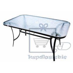 Stół ogrodowy szklany garth 150 x 89 x 72 cm marki Garthen