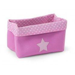 Pudełko materiałowe 32x20x20 fuksja kropki - sprawdź w wybranym sklepie