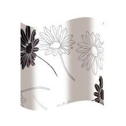 zasłonka prysznicowa biała w czrne kwiatki awd02100818 marki Awd interior
