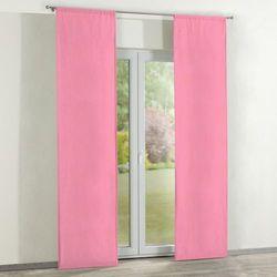 zasłony panelowe 2 szt., różowy z połyskiem, 60 x 260 cm, milano marki Dekoria
