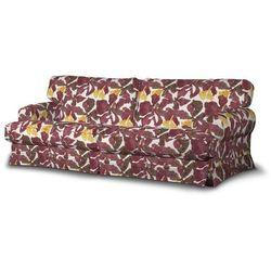 Dekoria Pokrowiec na sofę Ekeskog rozkładaną, żółto-brązowe kwiaty, sofa ekeskog rozkładana, Wyprzedaż do -30%