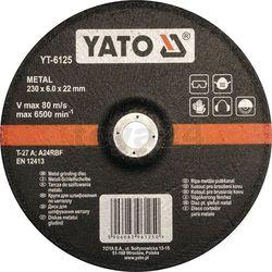 Tarcza do szlifowania metalu 230x6,0x22 mm / YT-6125 / YATO - ZYSKAJ RABAT 30 ZŁ (5906083961250)