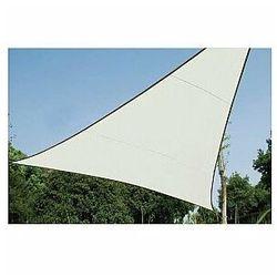Perel trójkątny żagiel przeciwsłoneczny - 5 x 5 x 5m, kolor: kremowy