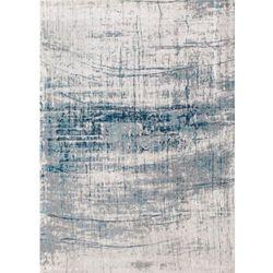 C&m Biało niebieski dywan nowoczesny bronx azurite