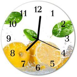 Zegar ścienny okrągły Cytryna