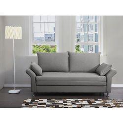 Beliani Sofa do spania szara - kanapa - rozkładana - wypoczynek - exeter